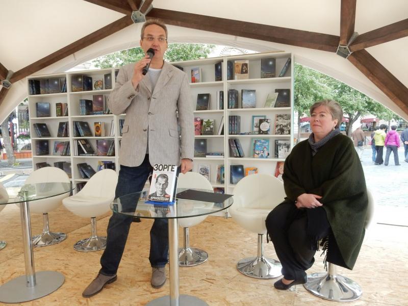 На презентации книги «Зорге. Неудобный» на книжном фестивале «Красная площадь». 2017 год