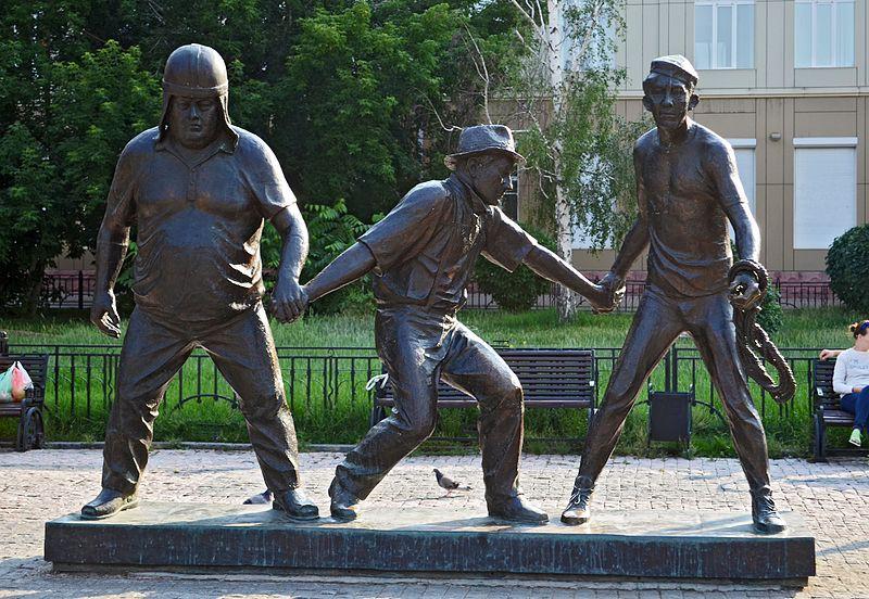 Памятник Бывалому, Трусу и Балбесу в Иркутске