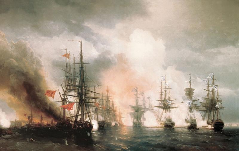 Айвазовский. «Синопский бой». 1853