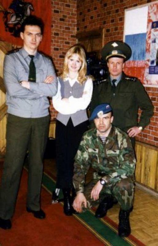 На съемках передачи «Армейский магазин» с Даной Борисовой. 1998 год