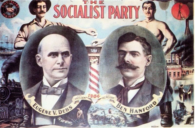 Предвыборный плакат Юджина Дебса, кандидата в президенты США от Социалистической партии Америки (1904)