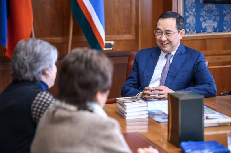 Глава Якутии Айсен Николаев встретился с представителями издательства «Молодая гвардия»
