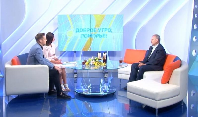Автор биографии одного из классиков деревенской прозы Олег Трушин принял участие в программе «Доброе утро, Поморье!»