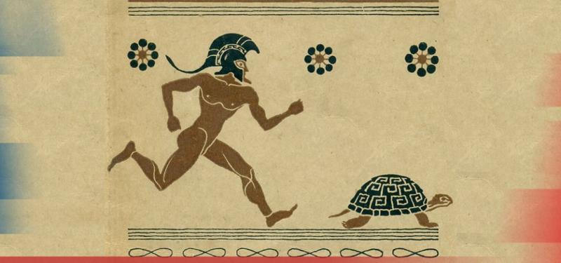 Согласно одной из апорий Зенона Элейского, хваленый быстроногий Ахиллес и черепаху догнать не может… Разве не очевидно, что хитроумный Одиссей – круче?!