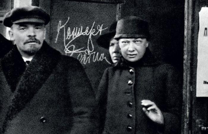 Владимир Ленин и Надежда Крупская