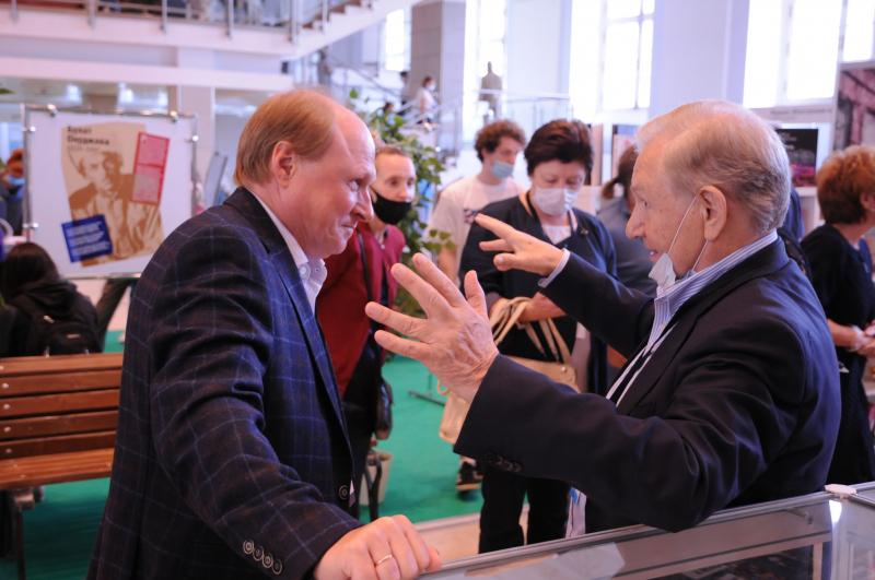 Валентин Юркин с советником президента России  по культуре и искусству Владимиром Толстым
