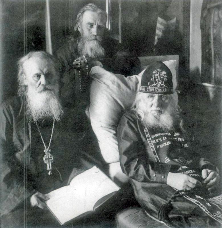 Преподобный Алексий Зосимовский (Соловьев, 1846—1928) (справа)