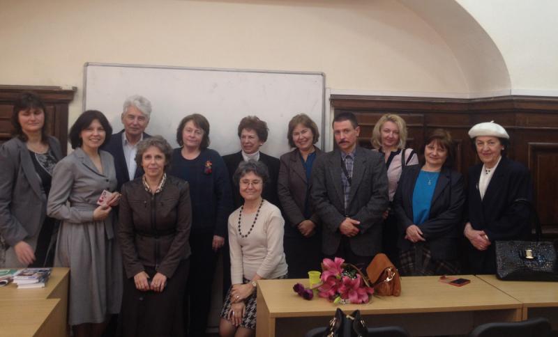 После встречи  со студентами и преподавателями  отделения русской филологии в Софийском университете.