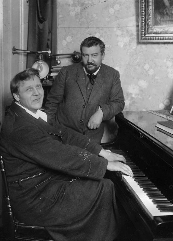 С Федором Шаляпиным. 1911 год