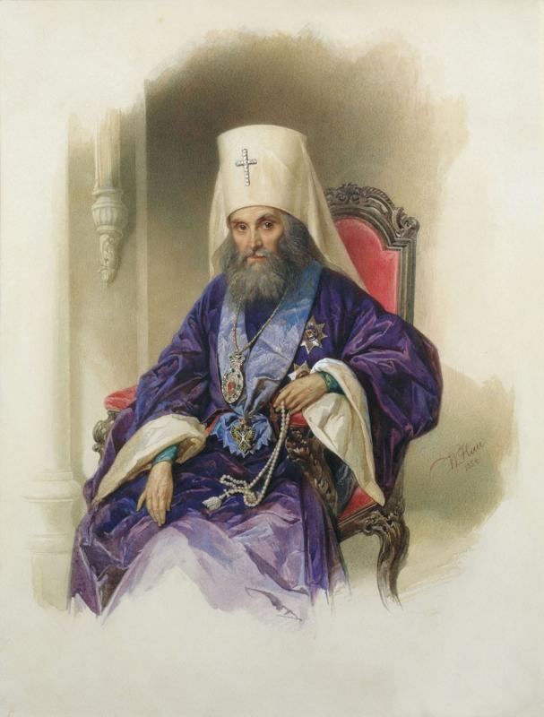 Митрополит Филарет (в миру Василий Михайлович Дроздов; 1782—1867). Портрет работы Владимира Гау, 1854 год