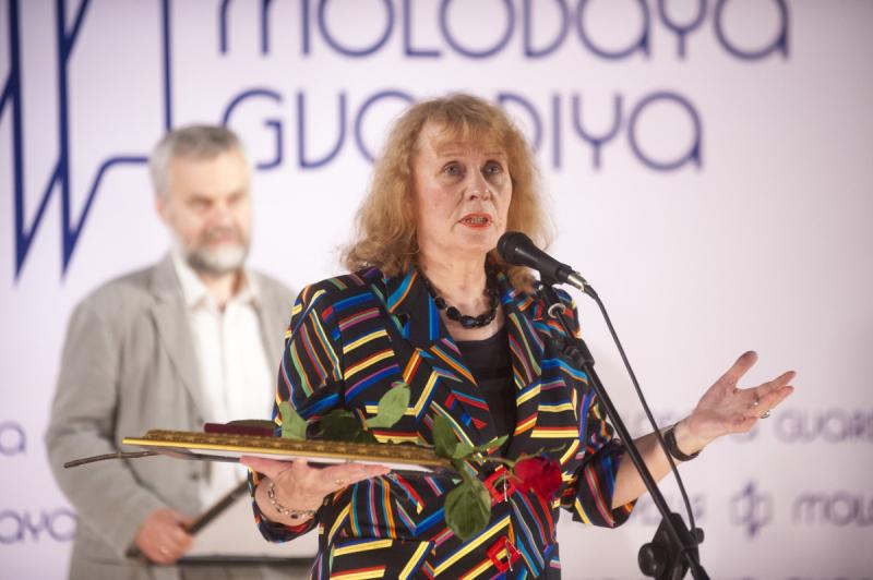 Людмила Сараскина на 90-летии издательства «Молодая гвардия» (2012 год)